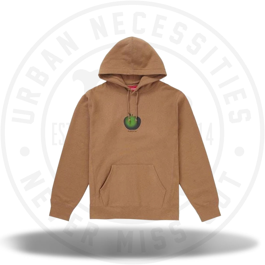 Supreme Apple Hooded Sweatshirt Brown-Urban Necessities
