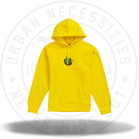 Supreme Apple Hooded Sweatshirt Yellow-Urban Necessities