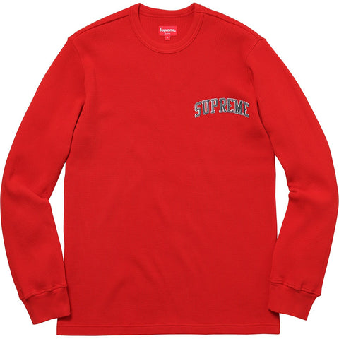 Supreme Arc Logo L/S Thermal Red-Urban Necessities