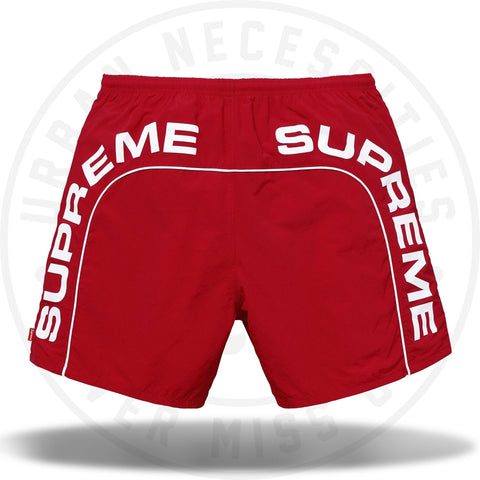 Supreme Arc Logo Water Short Red-Urban Necessities