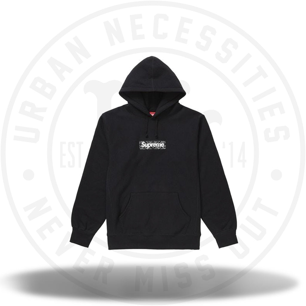 Supreme Bandana Box Logo Hooded Sweatshirt Black-Urban Necessities