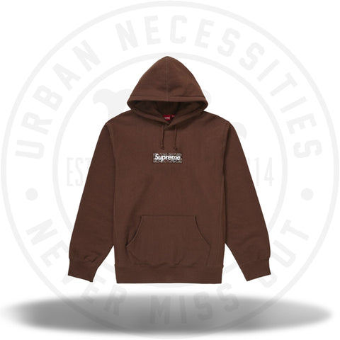 Supreme Bandana Box Logo Hooded Sweatshirt Dark Brown-Urban Necessities
