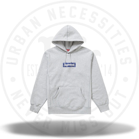 Supreme Bandana Box Logo Hooded Sweatshirt Heather Grey-Urban Necessities