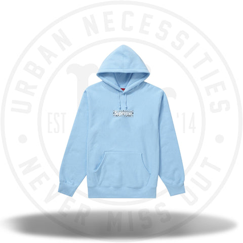 Supreme Bandana Box Logo Hooded Sweatshirt Light Blue-Urban Necessities