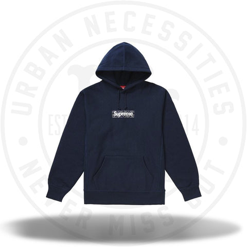 Supreme Bandana Box Logo Hooded Sweatshirt Navy-Urban Necessities