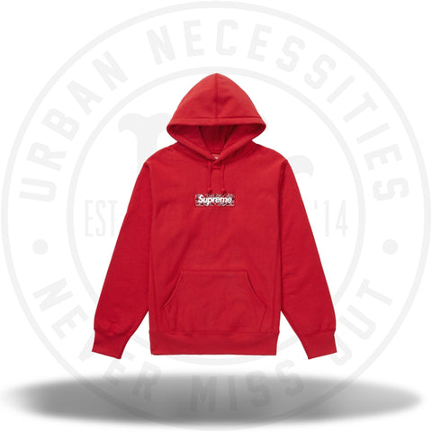Supreme Bandana Box Logo Hooded Sweatshirt Red-Urban Necessities