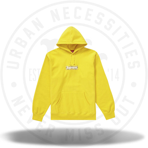 Supreme Bandana Box Logo Hooded Sweatshirt Yellow-Urban Necessities