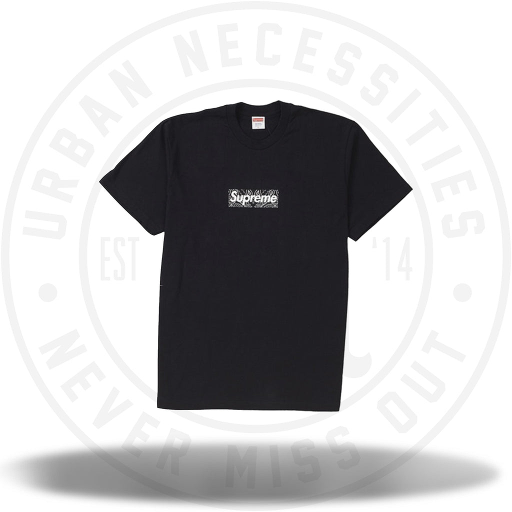 Supreme Bandana Box Logo Tee Black-Urban Necessities