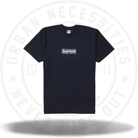 Supreme Bandana Box Logo Tee Navy-Urban Necessities