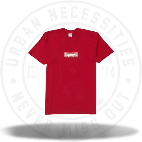 Supreme Bandana Box Logo Tee Red-Urban Necessities