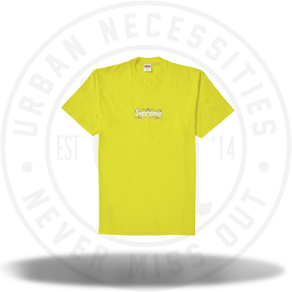 Supreme Bandana Box Logo Tee Yellow-Urban Necessities