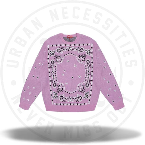 Supreme Bandana Sweater Light Pink-Urban Necessities