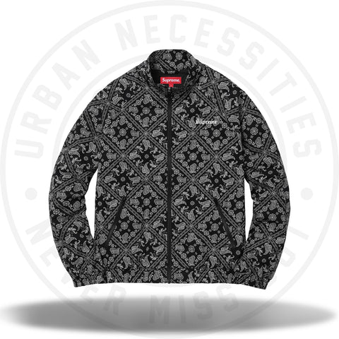 Supreme Bandana Track Jacket Black-Urban Necessities
