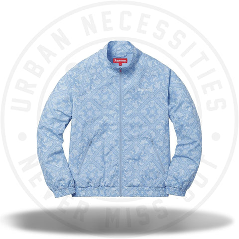 Supreme Bandana Track Jacket Light Blue-Urban Necessities