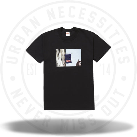 Supreme Banner Tee Black-Urban Necessities