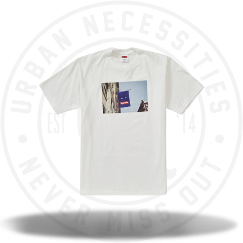 Supreme Banner Tee White-Urban Necessities