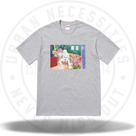 Supreme Bedroom Tee Heather Grey-Urban Necessities
