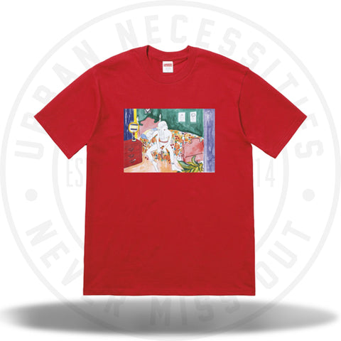 Supreme Bedroom Tee Red-Urban Necessities