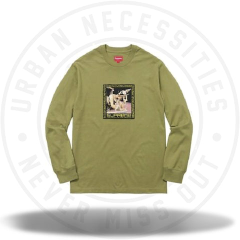 Supreme Best In the World L/S Tee Pale Olive-Urban Necessities