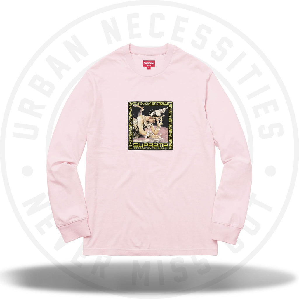 Supreme Best In The World L/S Tee Pink-Urban Necessities