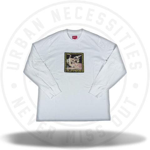 Supreme Best In the World L/S Tee White-Urban Necessities