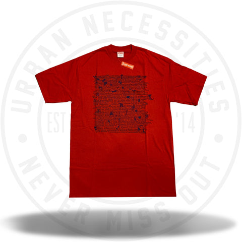 Supreme Big L Tee Red-Urban Necessities