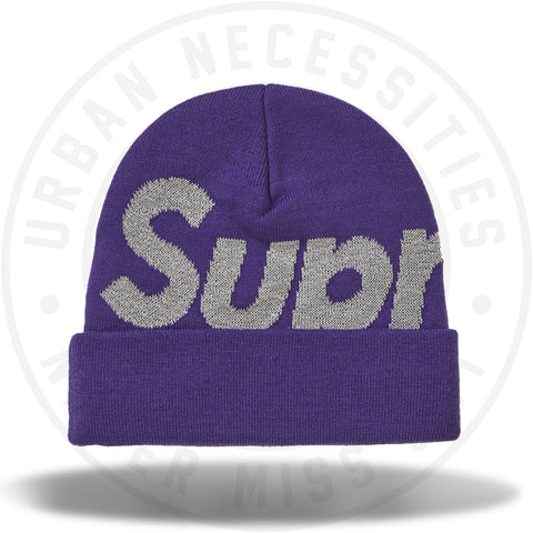 Supreme Big Logo Beanie (FW18) Bright Purple-Urban Necessities