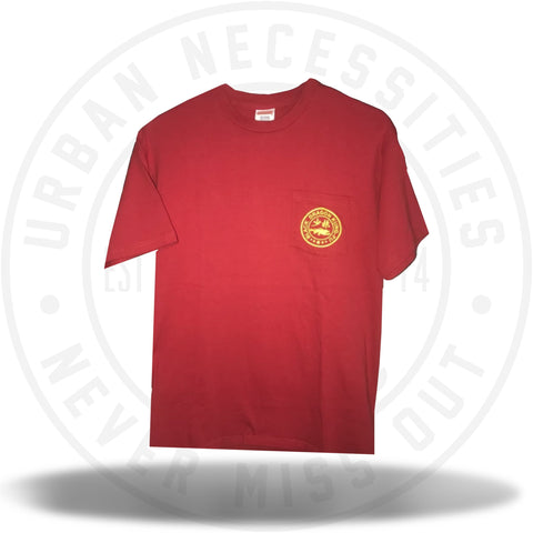 Supreme Black Dragon Kung- Fu Pocket Tee - Red-Urban Necessities