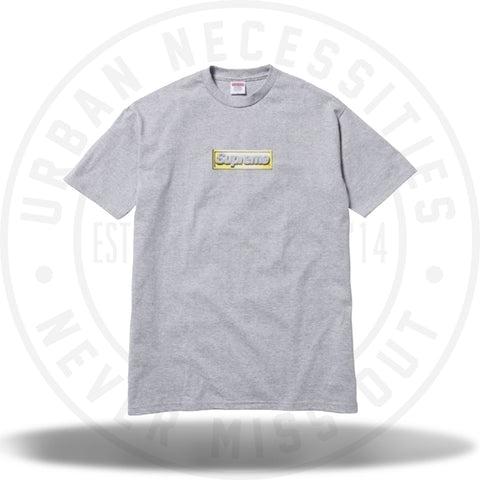 Supreme Bling Box Logo Tee 2013 Grey-Urban Necessities