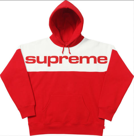 Supreme Blocked Hoodie Red-Urban Necessities