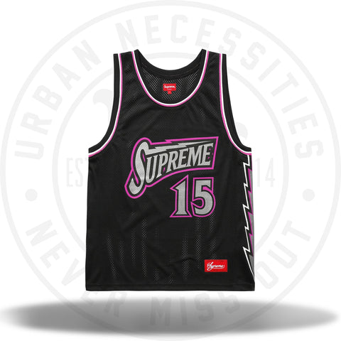 Supreme Bolt Basketball Jersey Black-Urban Necessities