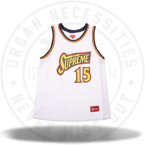 Supreme Bolt Basketball Jersey White-Urban Necessities