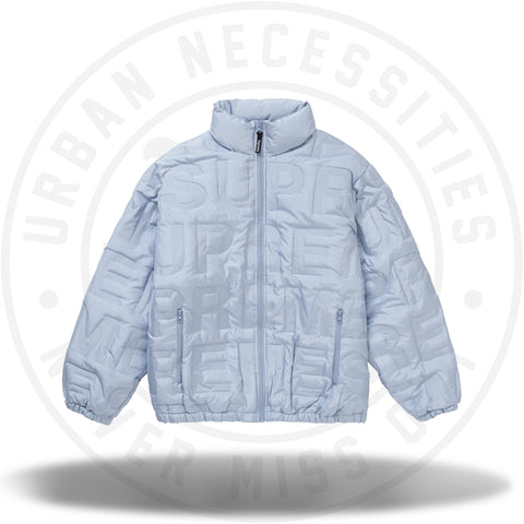 Supreme Bonded Logo Down Jacket Blue-Urban Necessities