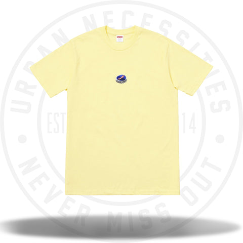 Supreme Bottle Cap Tee Pale Yellow-Urban Necessities