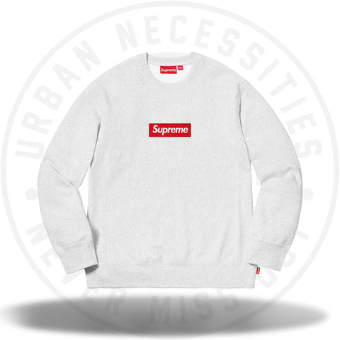 Supreme Box Logo Crewneck (FW18) Ash Grey-Urban Necessities