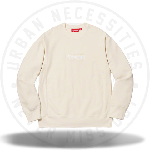 Supreme Box Logo Crewneck (FW18) Natural-Urban Necessities