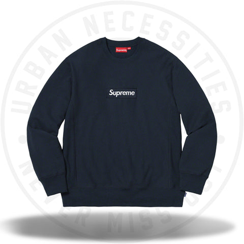 Supreme Box Logo Crewneck (FW18) Navy-Urban Necessities