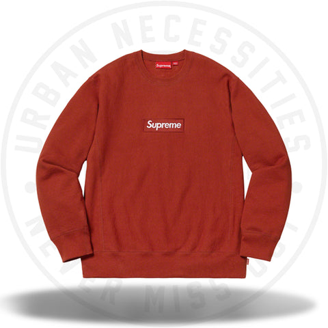 Supreme Box Logo Crewneck (FW18) Rust-Urban Necessities