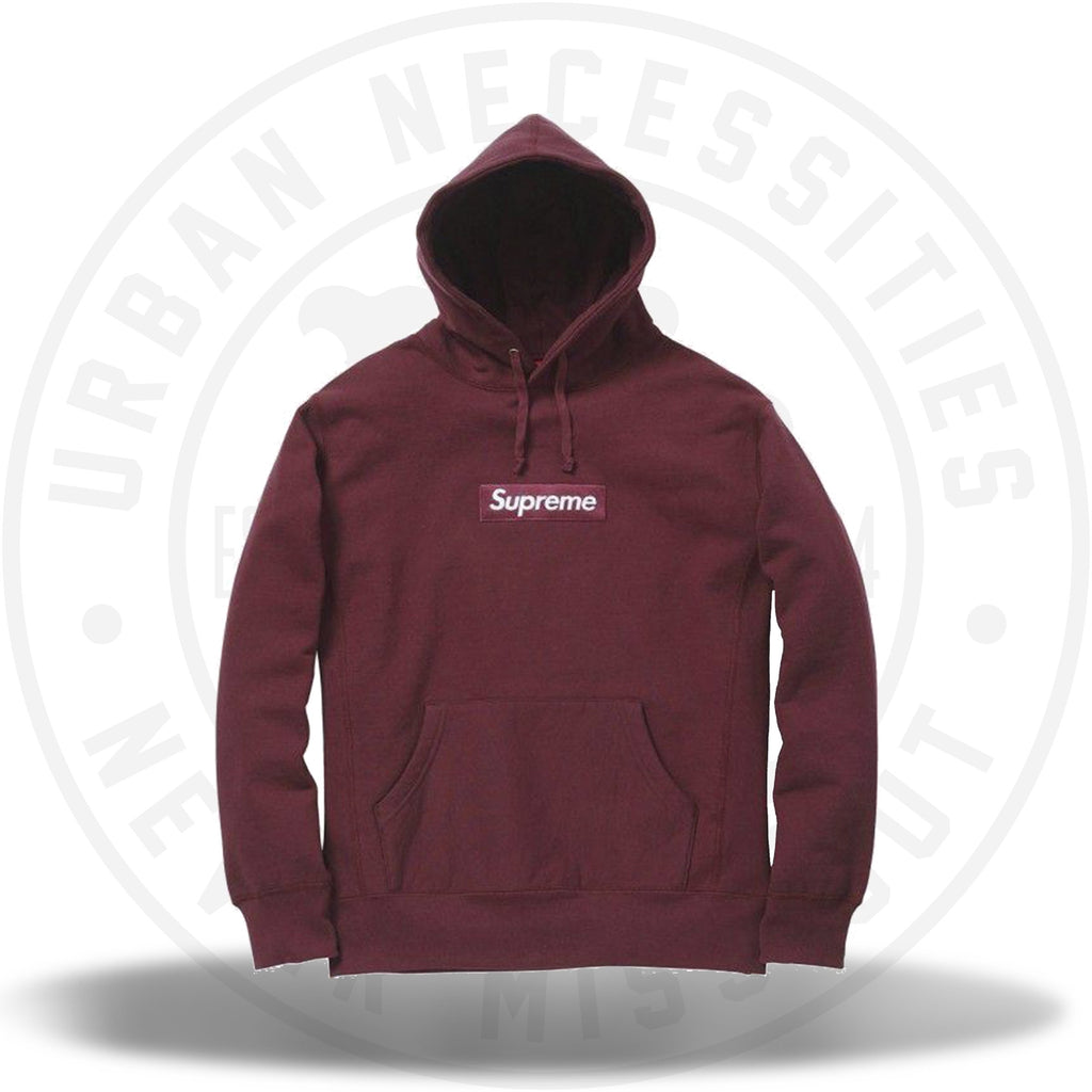 Supreme Box Logo Hooded Sweatshirt Burgundy FW11-Urban Necessities