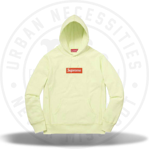 Supreme Box Logo Hooded Sweatshirt (FW17) Pale Lime-Urban Necessities