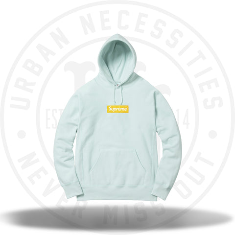 Supreme Box Logo Hooded Sweatshirt Ice Blue-Urban Necessities