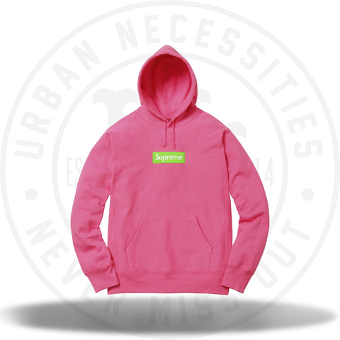 Supreme Box Logo Hooded Sweatshirt Magenta-Urban Necessities