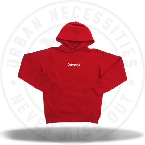 Supreme Box Logo Hooded Sweatshirt Red FW16-Urban Necessities