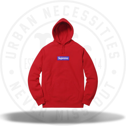 Supreme Box Logo Hooded Sweatshirt Red FW17-Urban Necessities