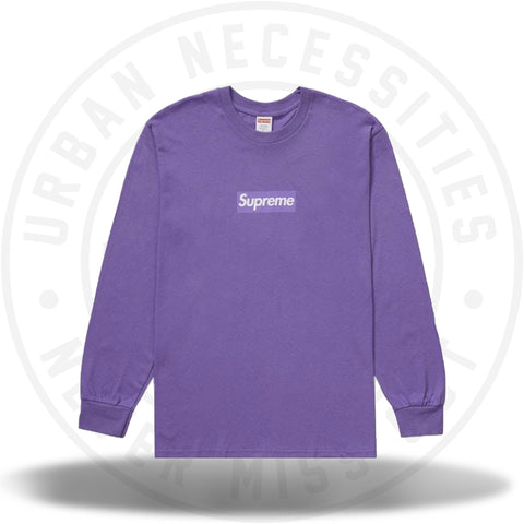 Supreme Box Logo L/S Tee Purple-Urban Necessities