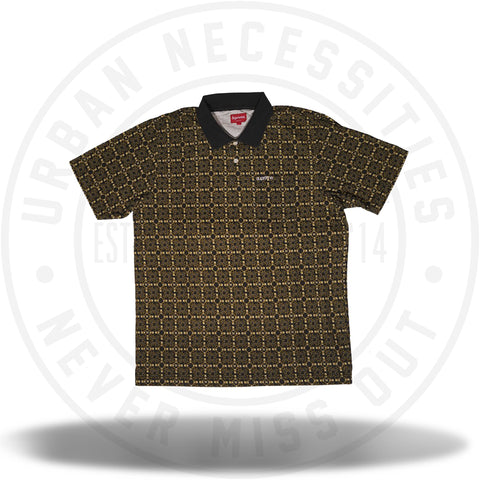 Supreme Bridle Print Polo Black-Urban Necessities