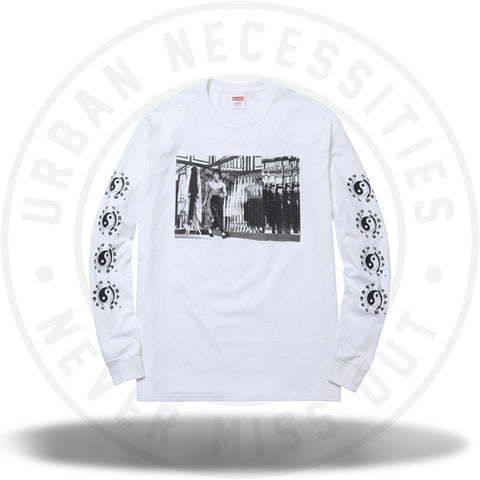 Supreme Bruce Lee Mirror L/S White-Urban Necessities