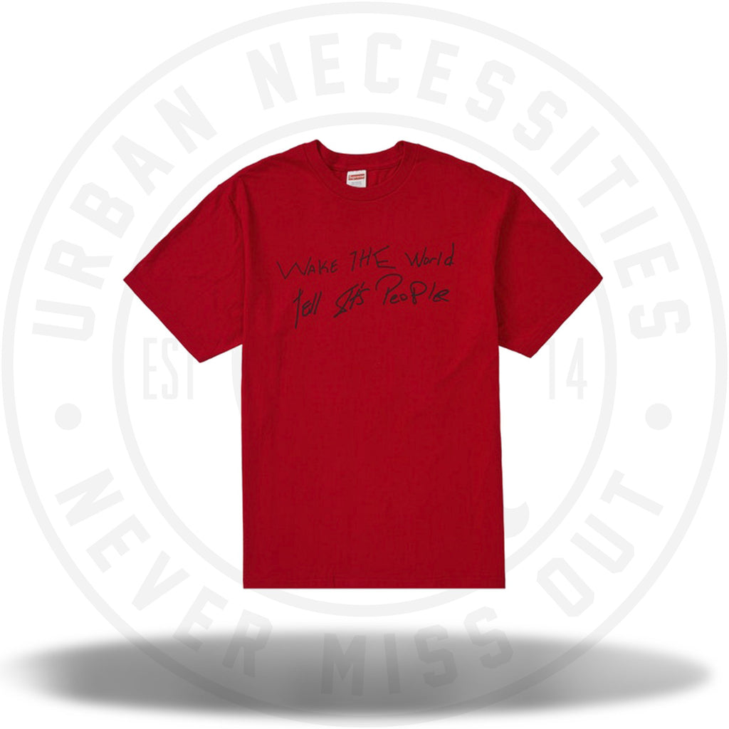 Supreme Buju Banton Wake The World Tee Red-Urban Necessities