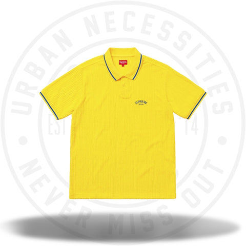 Supreme Cable Knit Terry Polo Yellow-Urban Necessities