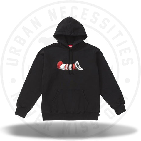 Supreme Cat in the Hat Hooded Sweatshirt Black-Urban Necessities